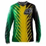 Tricou Bicicletă Troy Lee Designs GP Jersey Shocker Green / Yellow