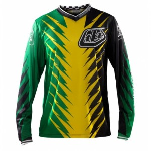 Tricou Bicicletă Troy Lee Designs GP Jersey Shocker Green / Yellow