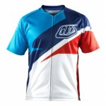 Tricou Bicicletă Troy Lee Designs Ace Jersey Red / Blue