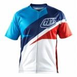 Tricou Bicicletă Troy Lee Designs Ace Jersey Red / Blue