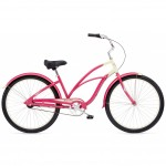 Bicicleta Electra Cruiser Custom 3i - Strawberry/Cream Ladies